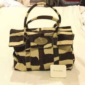 Mulberry calf hair Bayswater tote